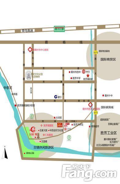 河北省胜芳镇地图