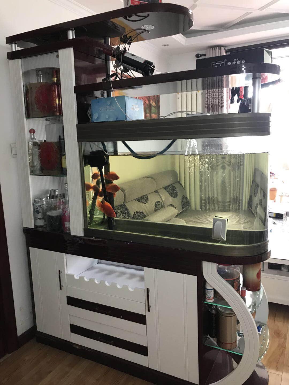 玄关柜加鞋柜加酒柜带鱼缸,一体式,超大1米5长 燕郊网城